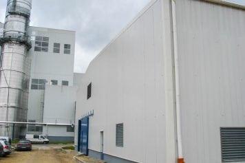 TEC–2 gāzes kompresoru ēka, dzesēšanas torņu ēka, demineralizācijas ēka
