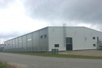 Administratīvās ēkas un noliktavas ēkas ar ražošanas telpām būvniecība